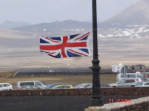 Lots of British support for the tough bike leg in lanzarote May 2011