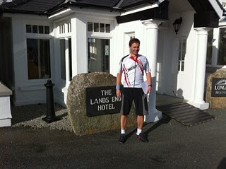 Lunch at the Hotel before setting off. Where did I park my bike?