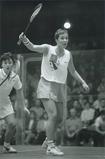 Lisa Opie at the British Squash Open Final at Wembley